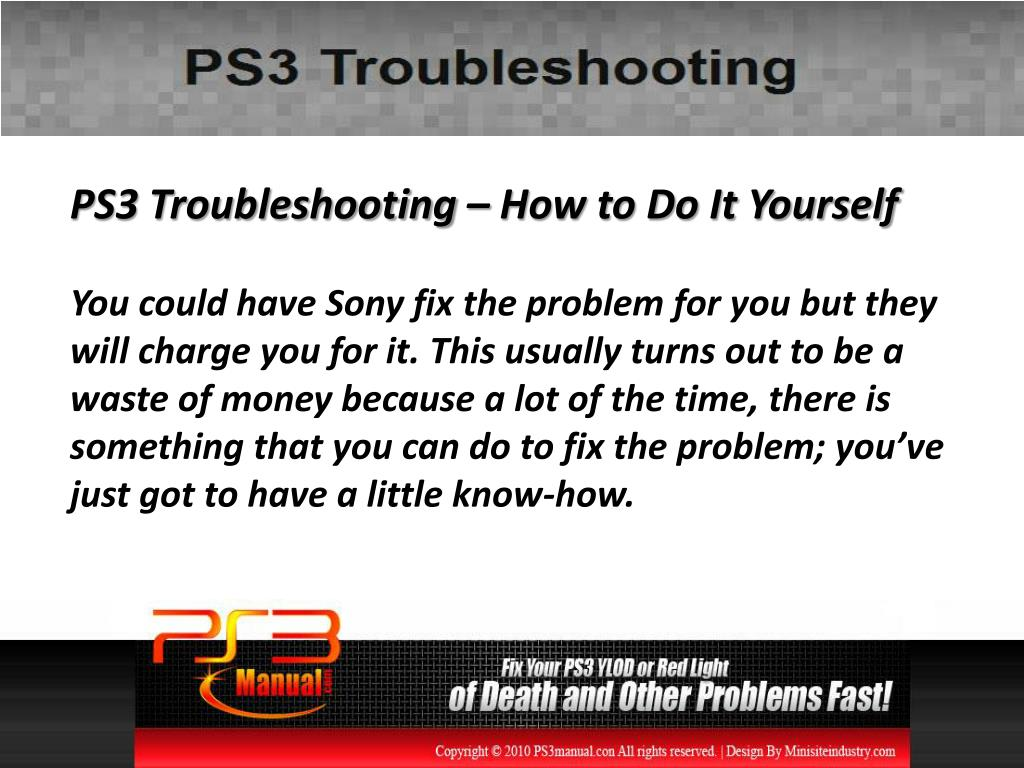 PS3 Troubleshooting – How to Do It