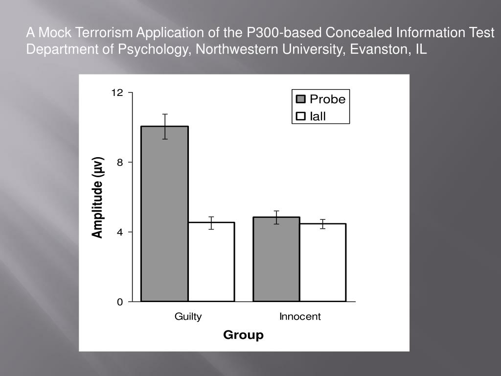 A Mock Terrorism Application of the P300-based Concealed Information Test