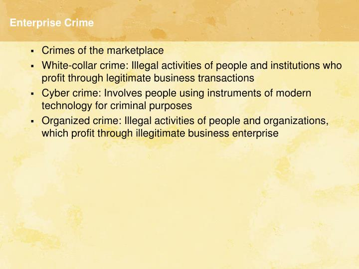 Enterprise crime l.jpg