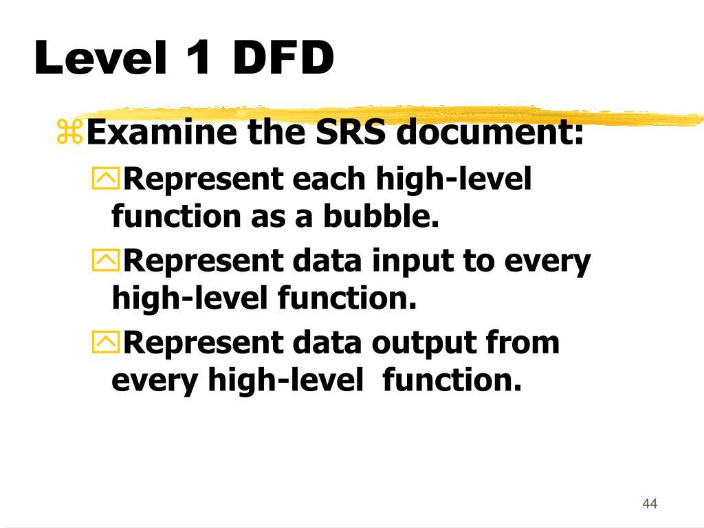 Level 1 DFD
