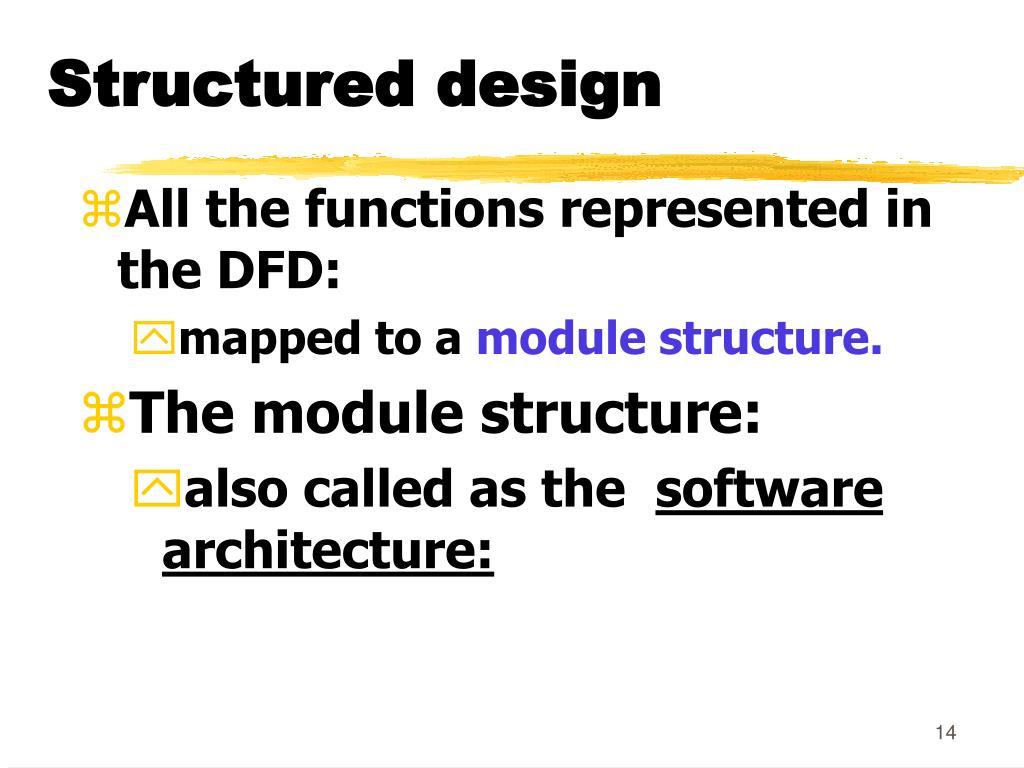 Structured design