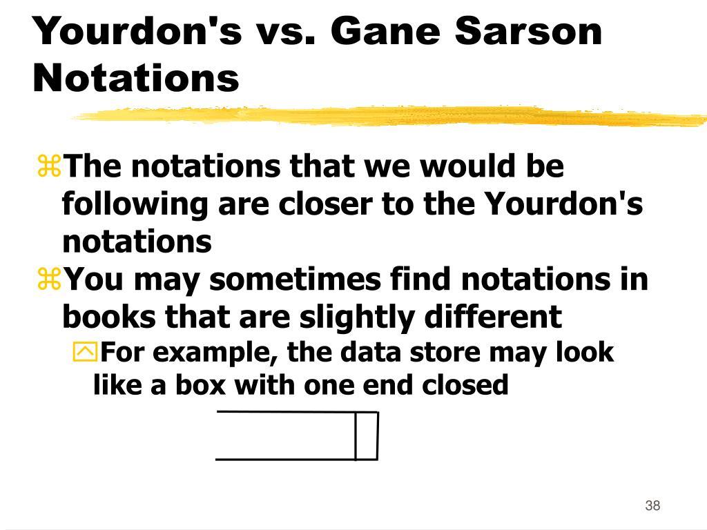 Yourdon's vs. Gane Sarson Notations
