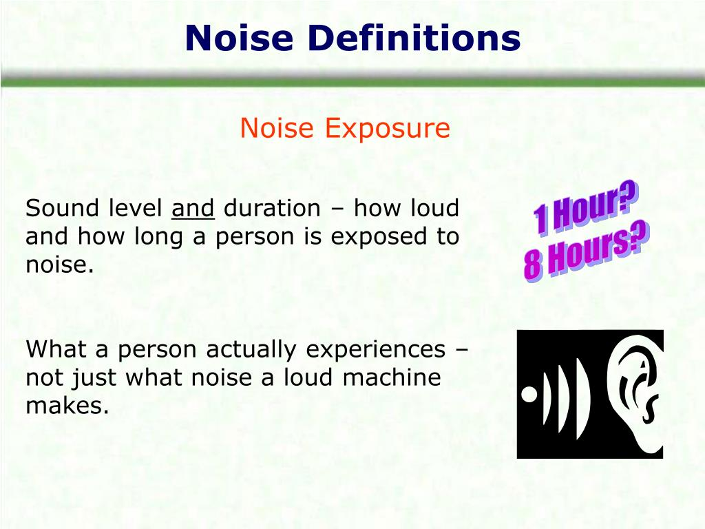 Noise Definitions