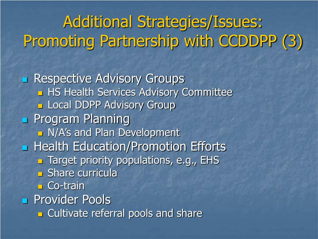 Additional Strategies/Issues: