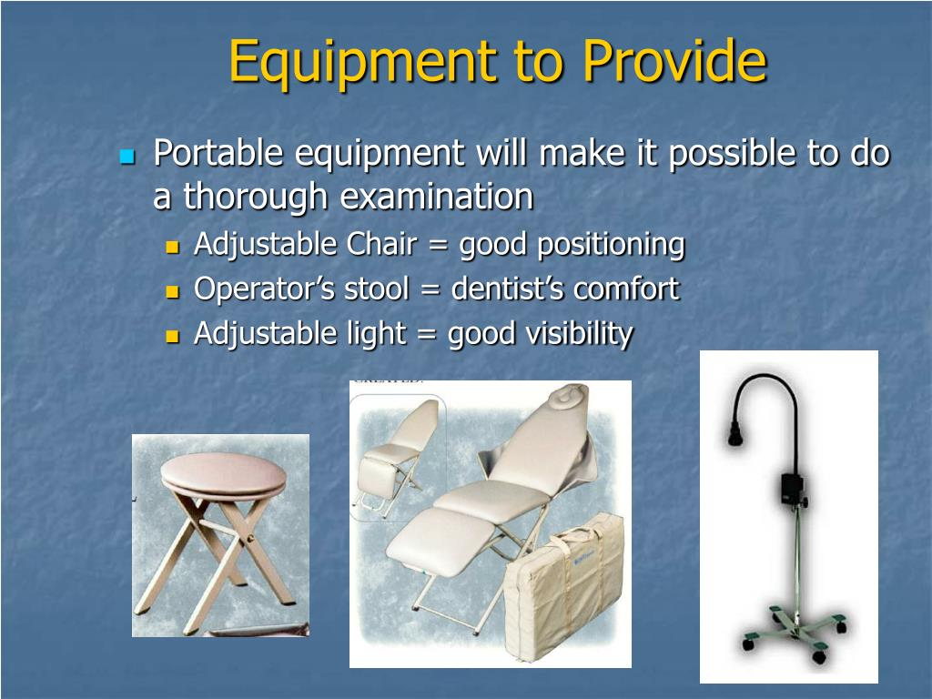 Equipment to Provide