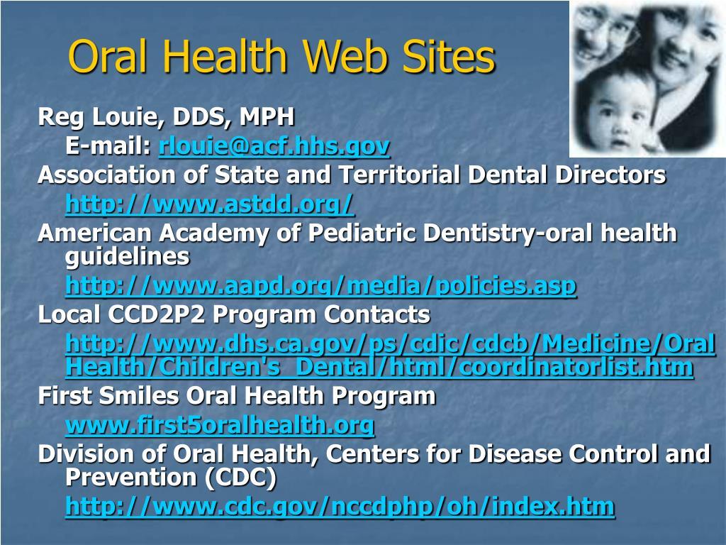 Oral Health Web Sites