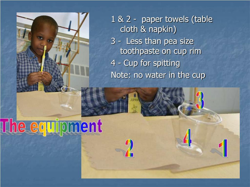 1 & 2 -  paper towels (table cloth & napkin)