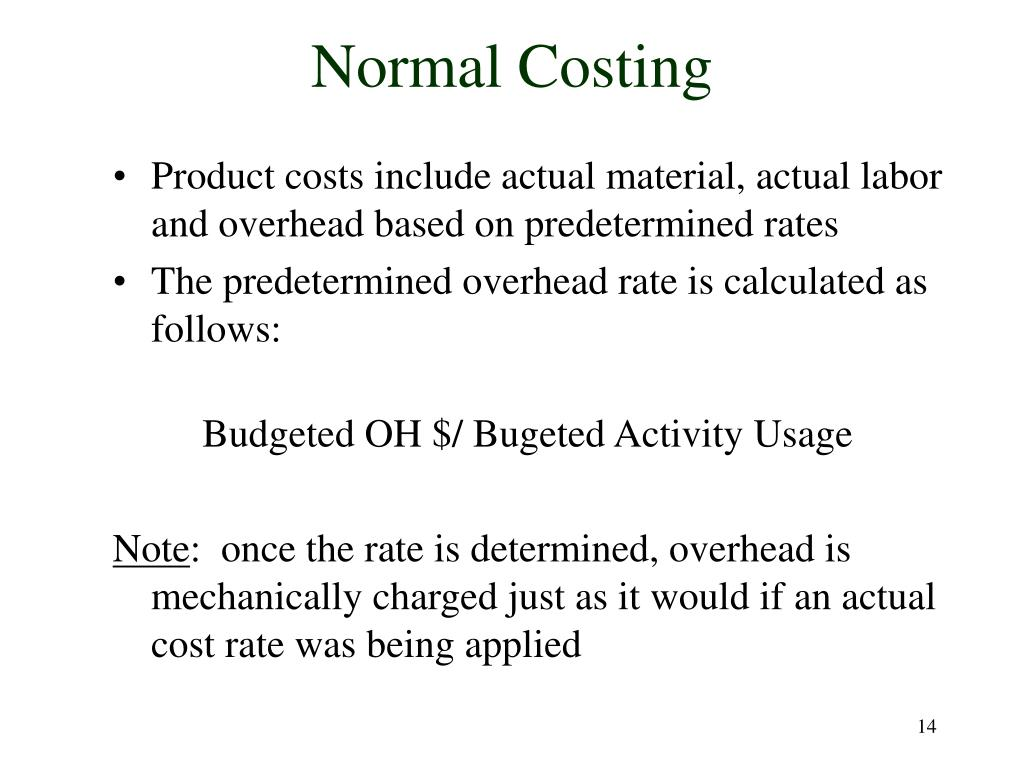 Normal Costing