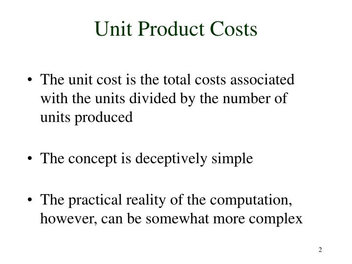Unit product costs