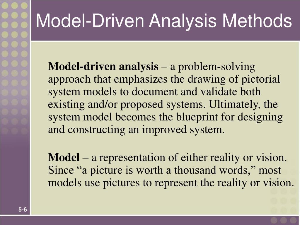 Model-Driven Analysis Methods