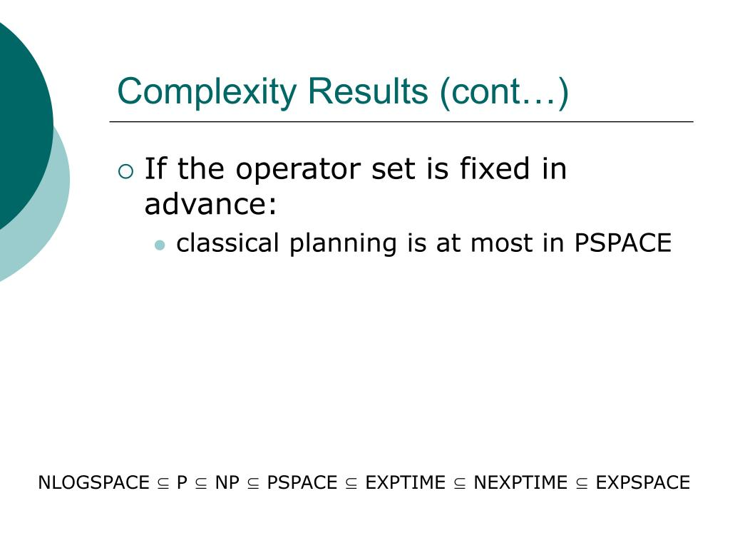 Complexity Results (cont…)