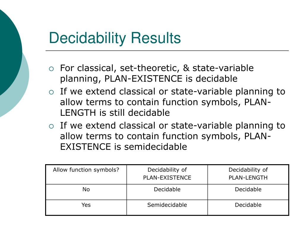 Decidability Results