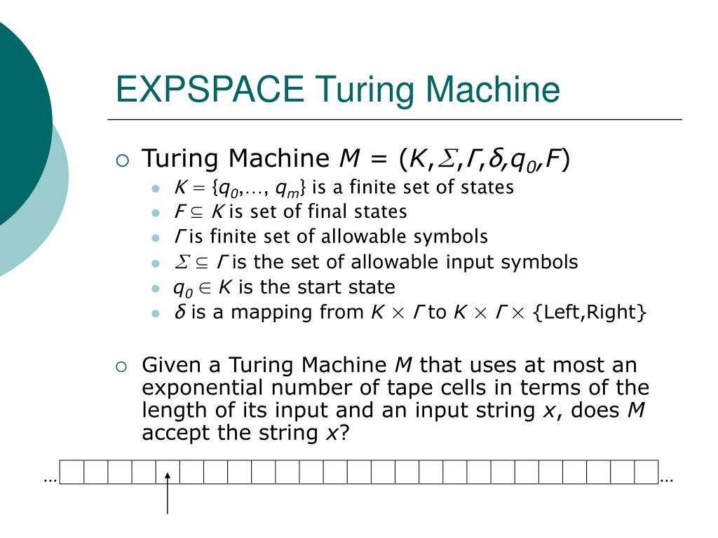 EXPSPACE Turing Machine