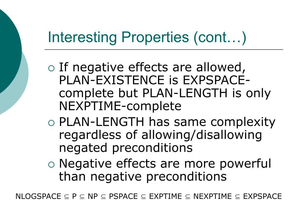Interesting Properties (cont…)