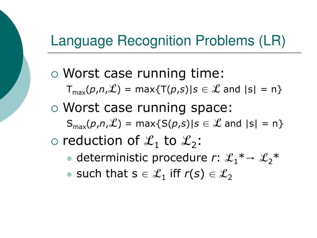 Language Recognition Problems (LR)