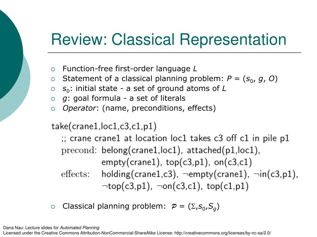 Review: Classical Representation