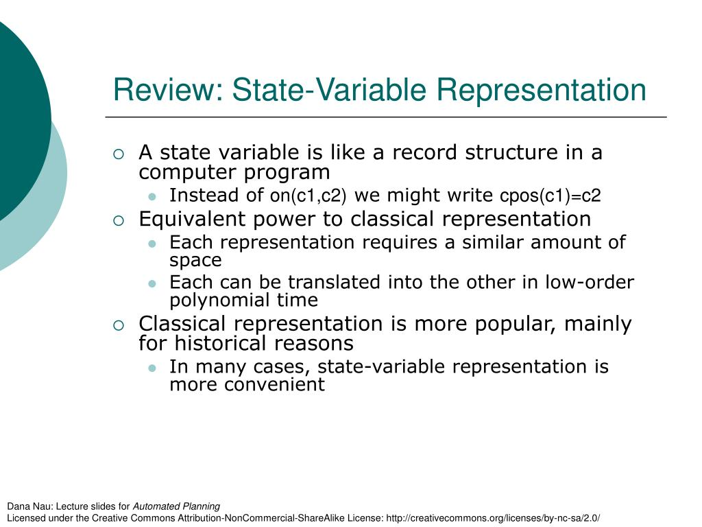 Review: State-Variable Representation