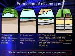 formation of oil and gas