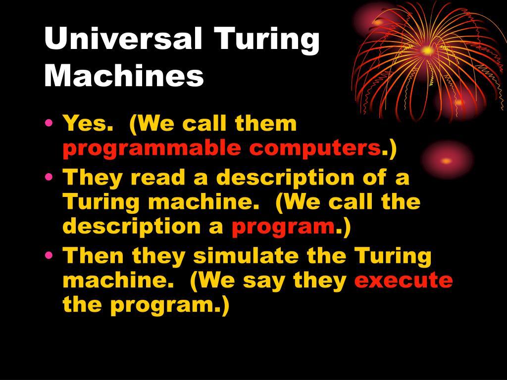 turing universal machine