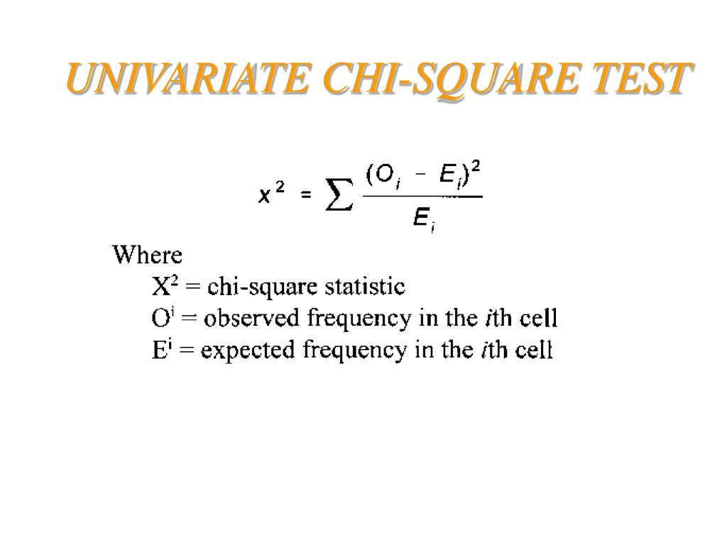 UNIVARIATE CHI-SQUARE TEST