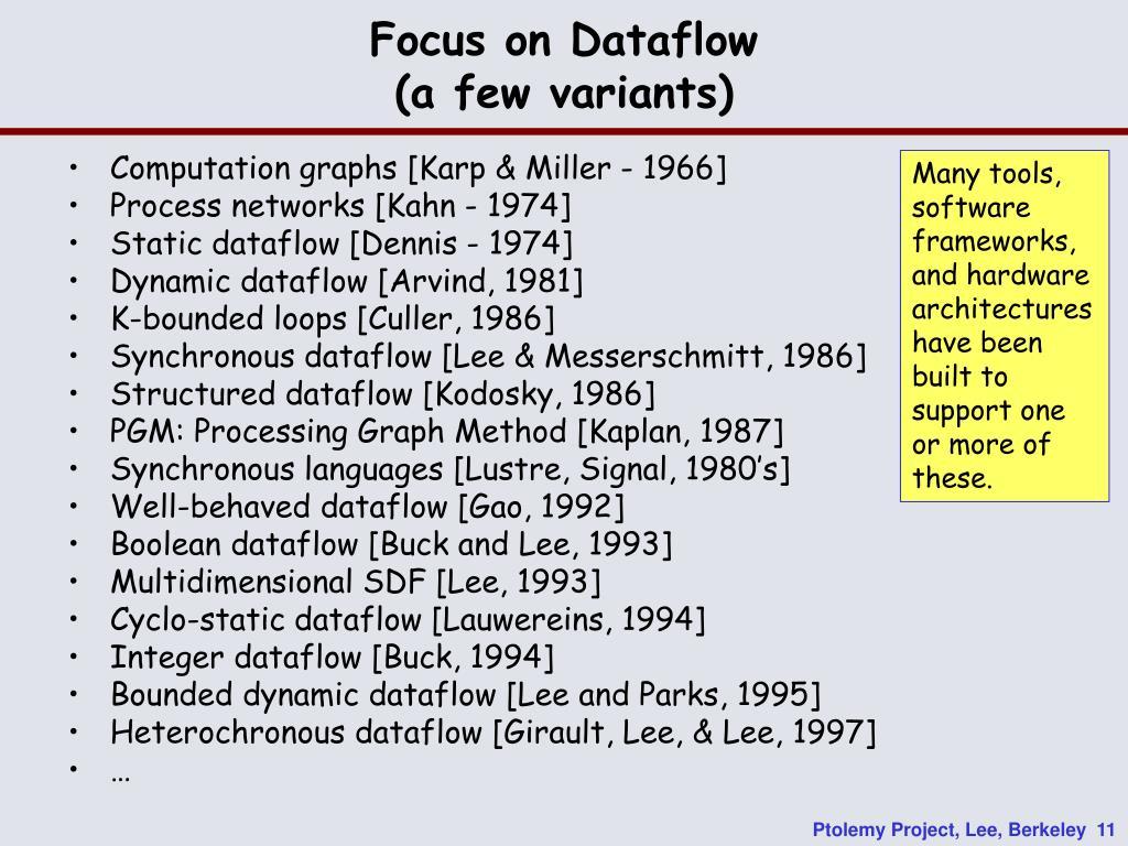 Focus on Dataflow