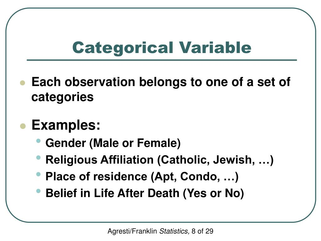 Categorical Variable