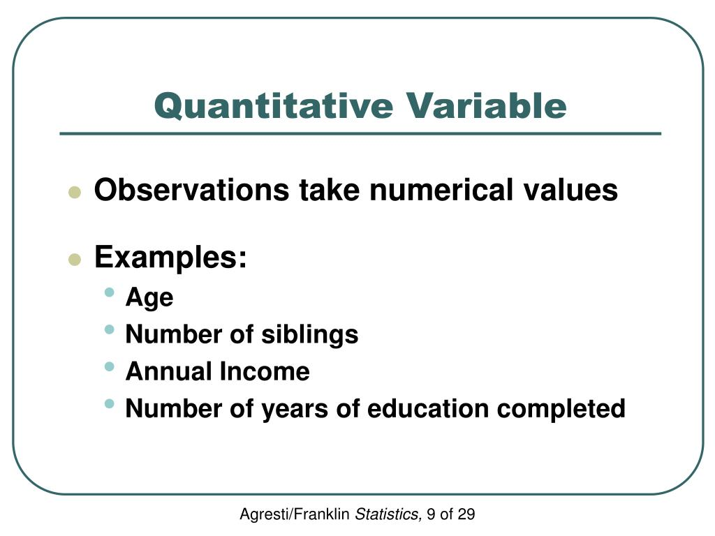 Quantitative Variable