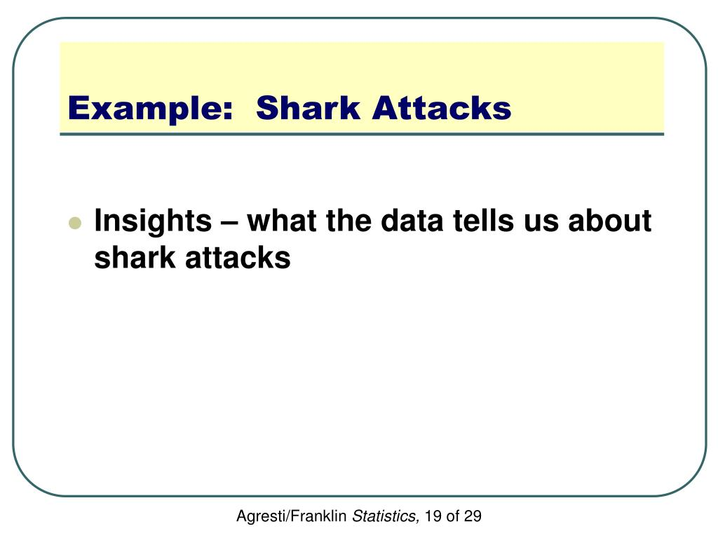 Example:  Shark Attacks