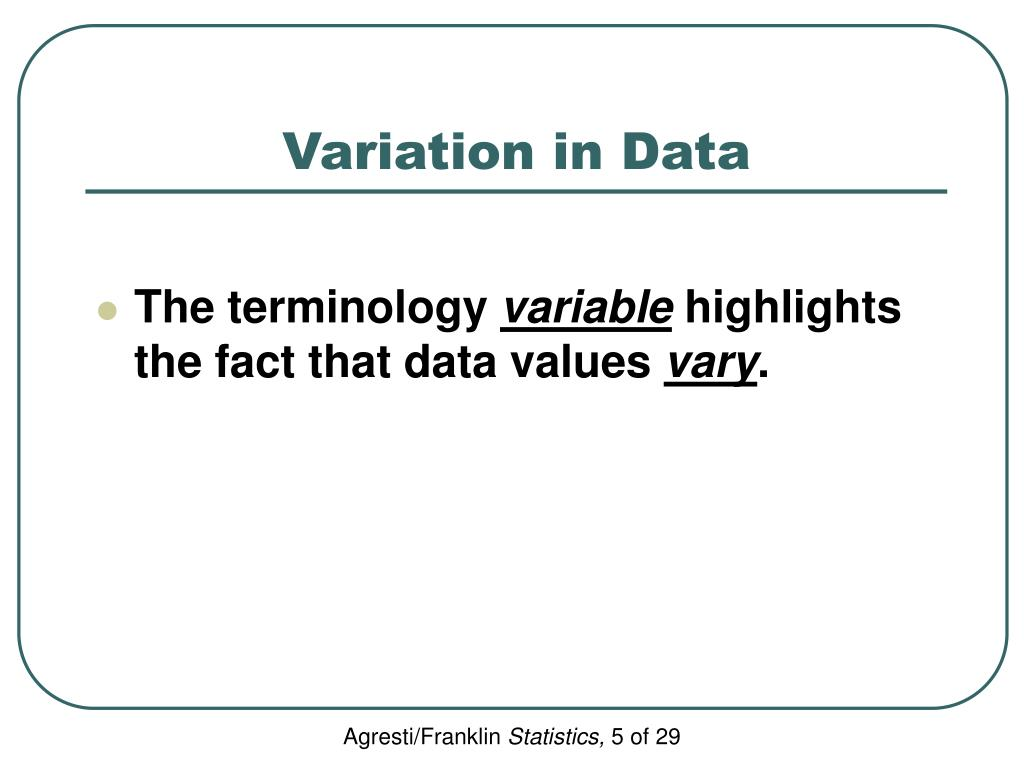 Variation in Data