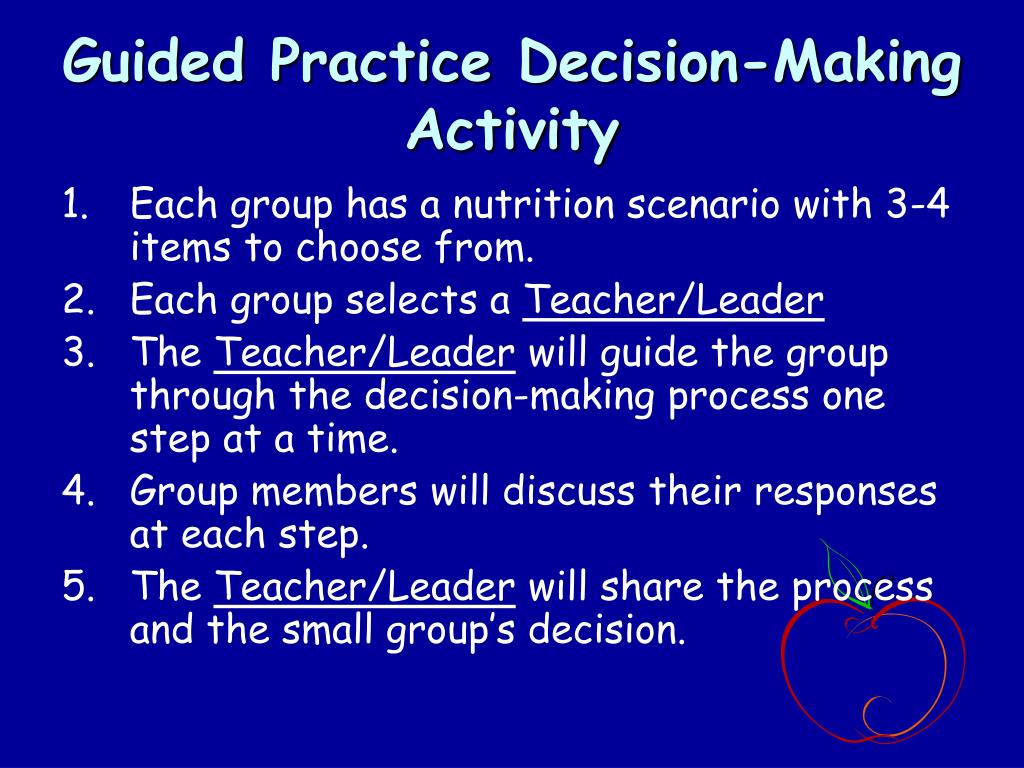Guided Practice Decision-Making Activity