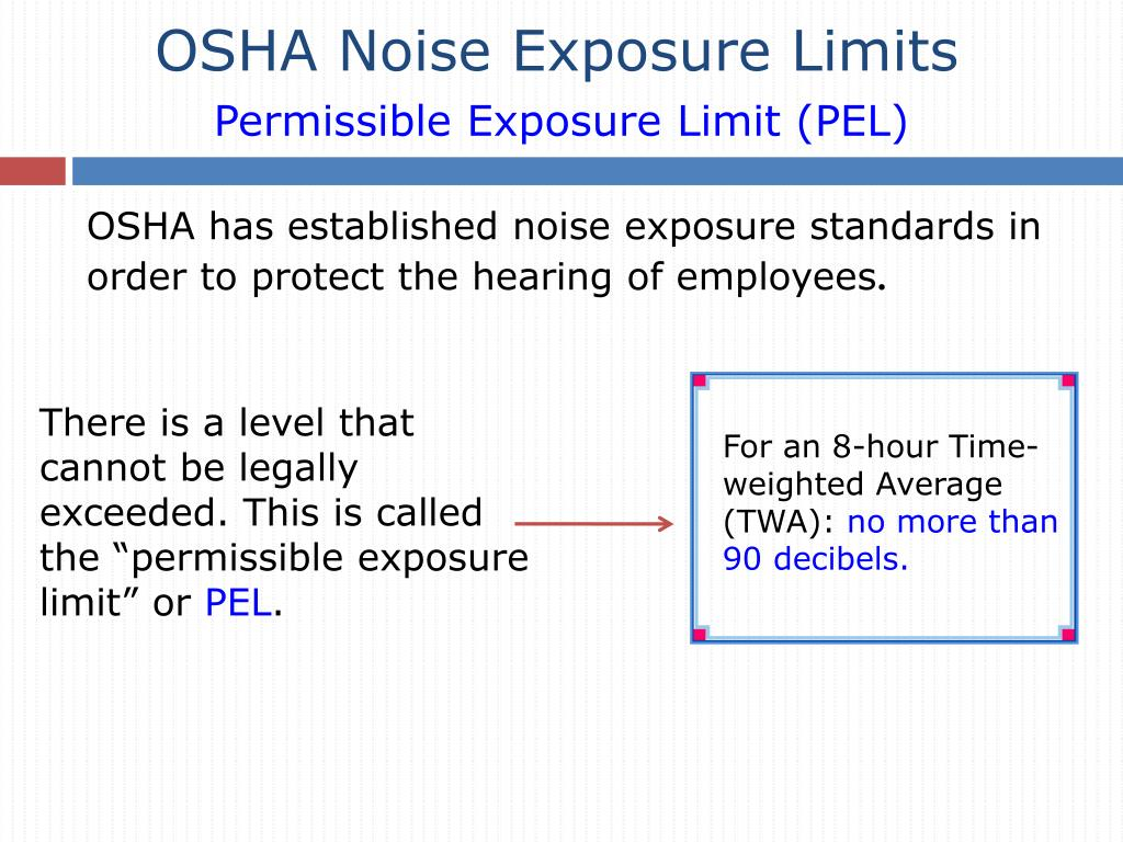 OSHA Noise Exposure Limits