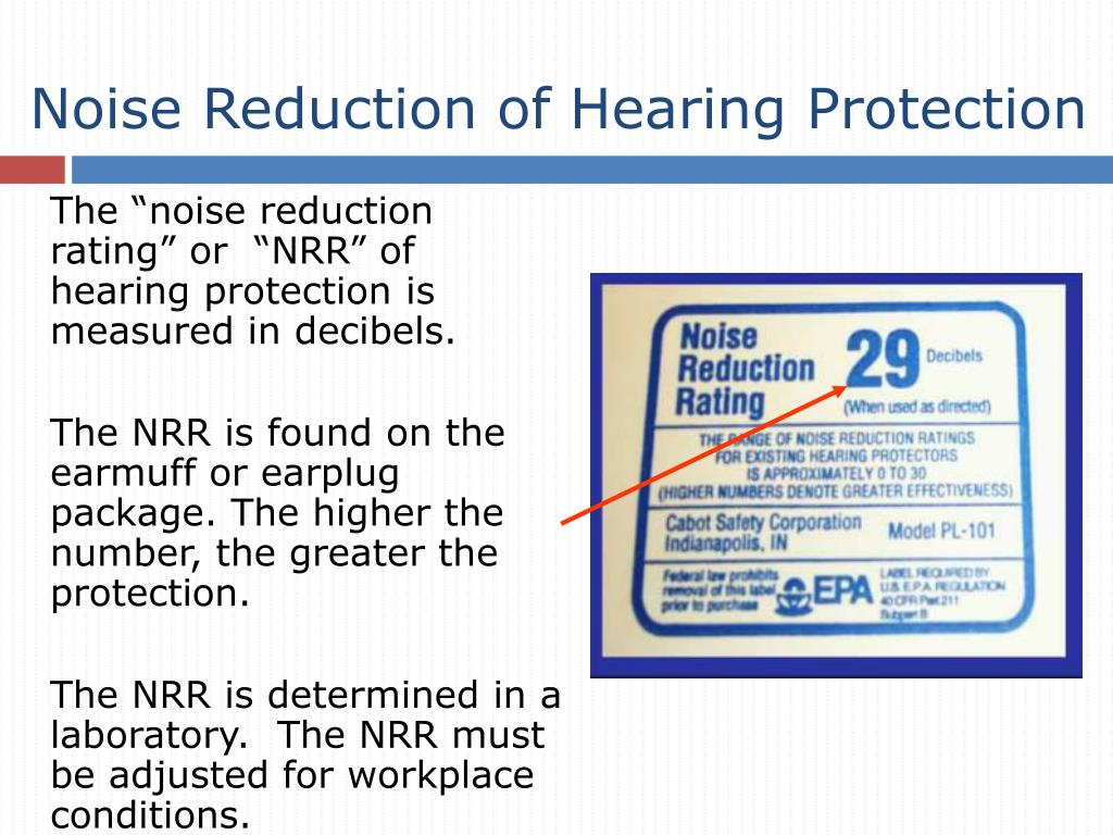 Noise Reduction of Hearing Protection