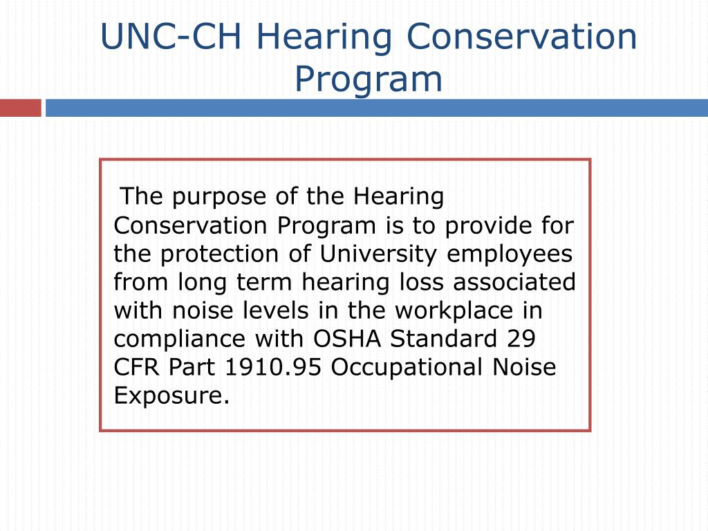 UNC-CH Hearing Conservation Program