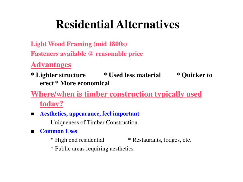 Residential Alternatives