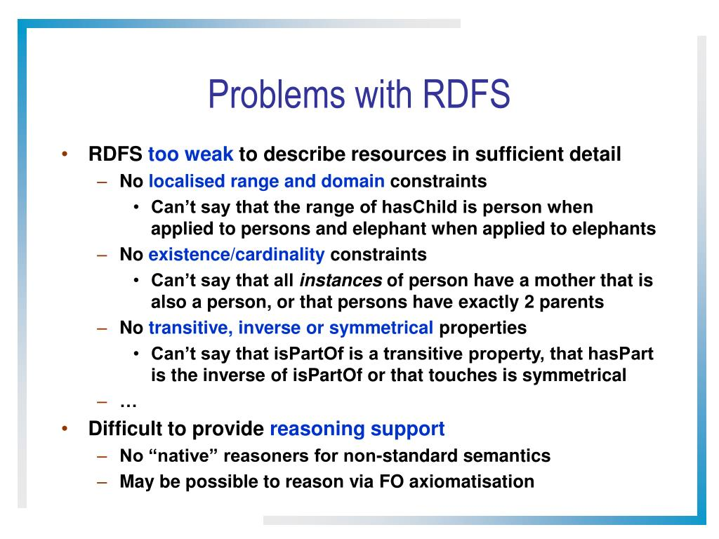 Problems with RDFS