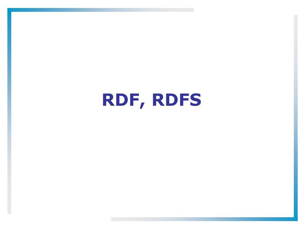 RDF, RDFS