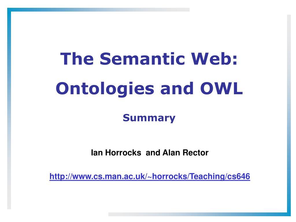 The Semantic Web: