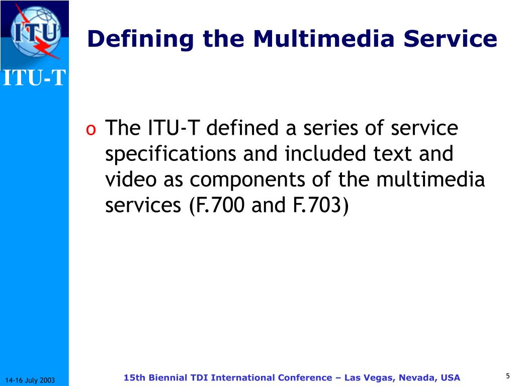 Defining the Multimedia Service