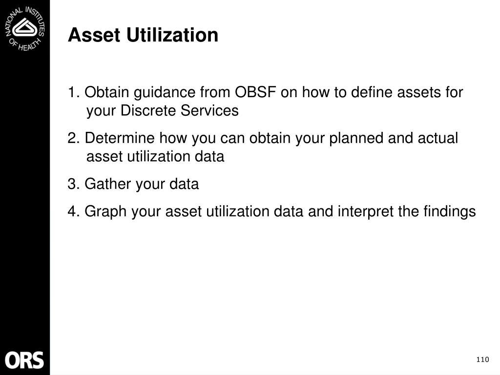 Asset Utilization