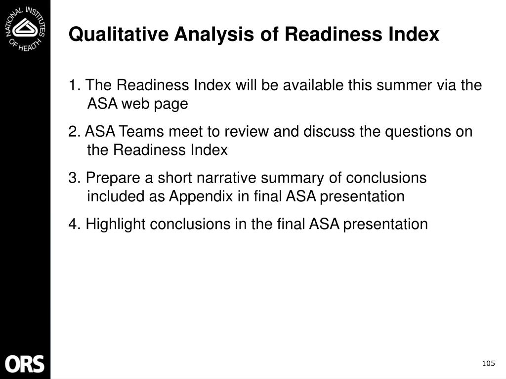 Qualitative Analysis of Readiness Index