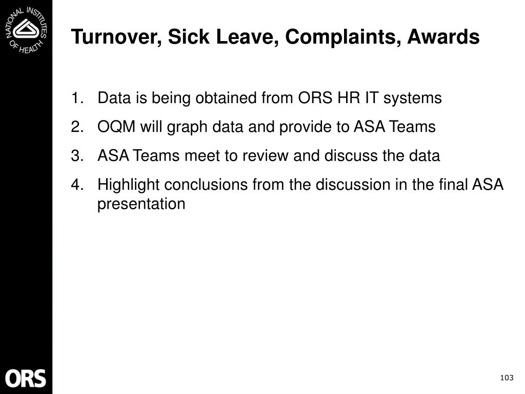 Turnover, Sick Leave, Complaints, Awards