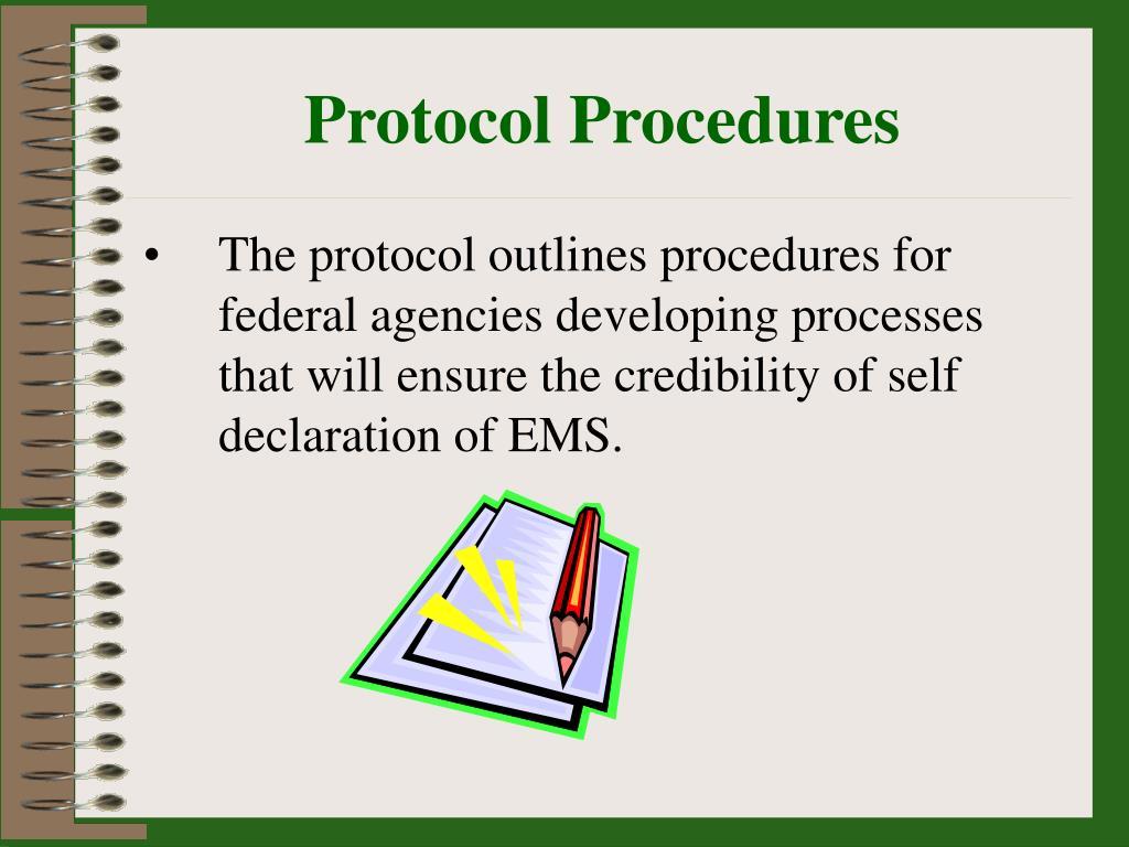 Protocol Procedures