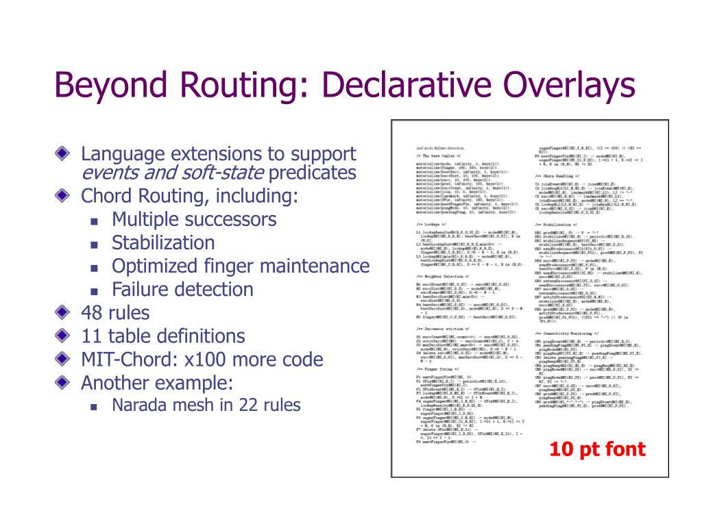 Beyond Routing: Declarative Overlays