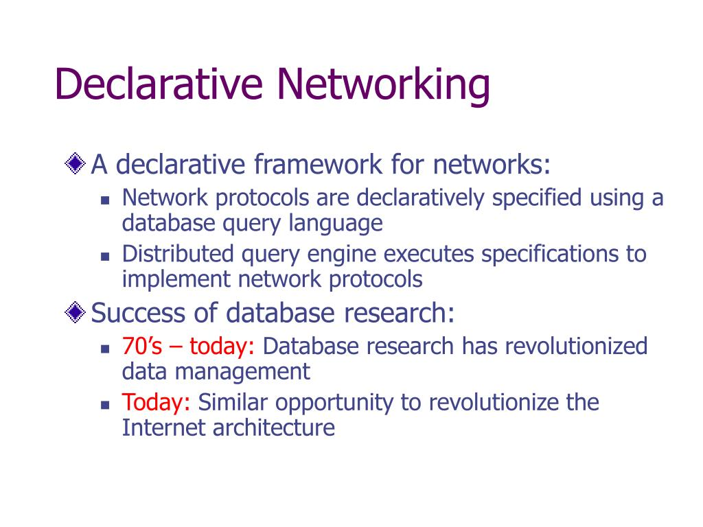 Declarative Networking