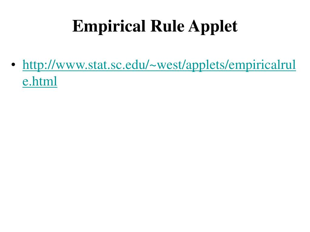 Empirical Rule Applet