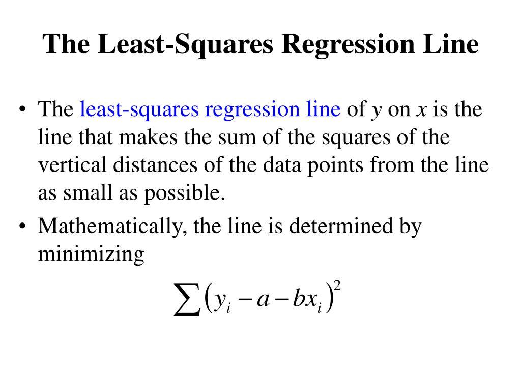 The Least-Squares Regression Line