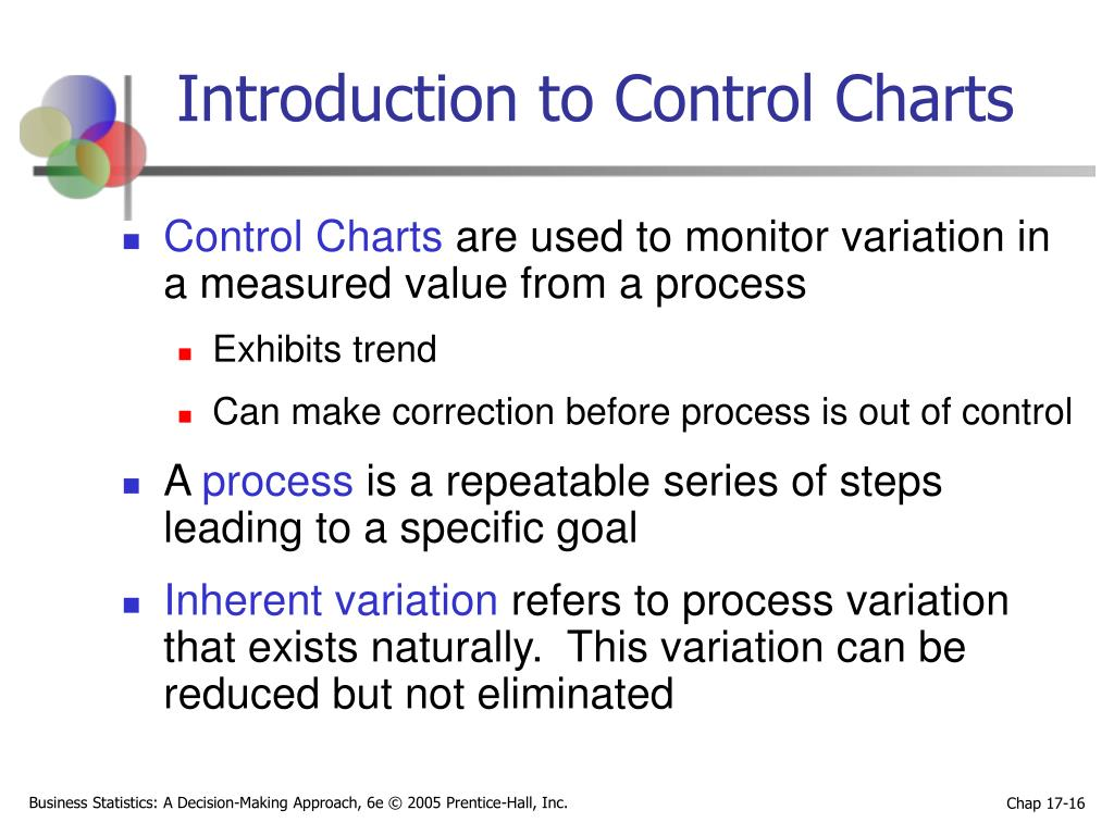 Introduction to Control Charts