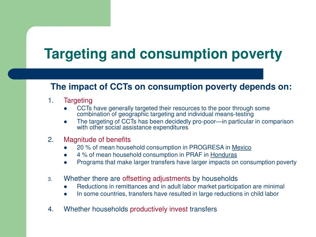 Targeting and consumption poverty
