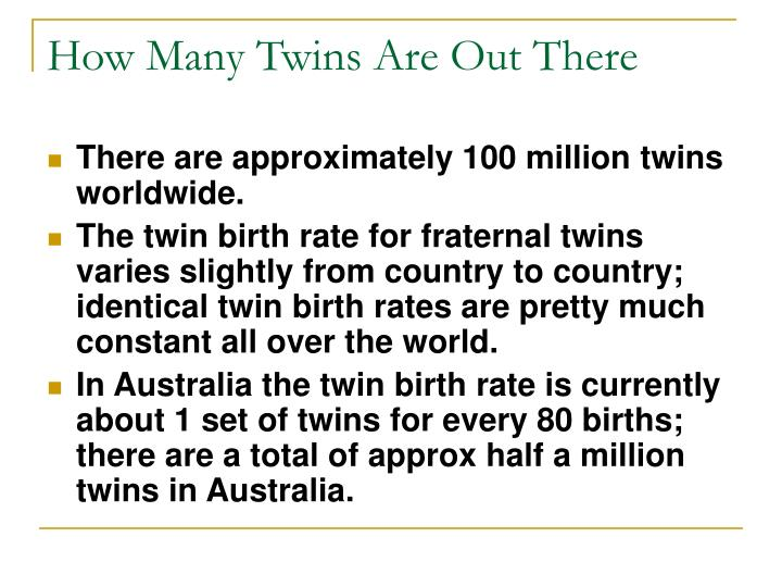 How Many Twins Are Out There