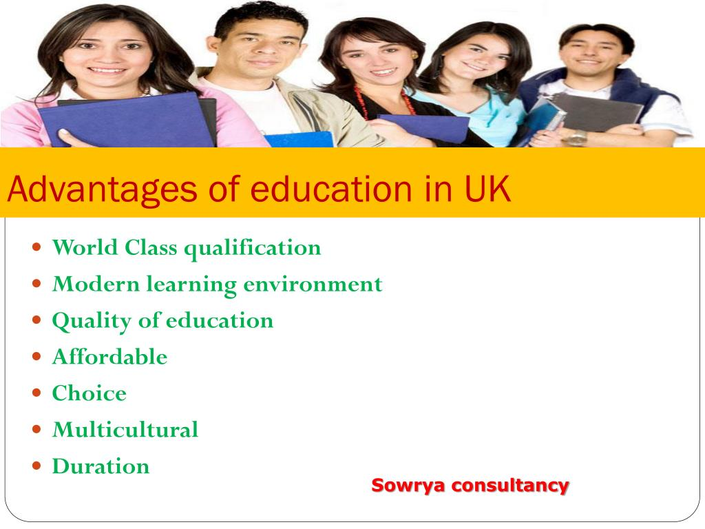 Advantages of education in UK